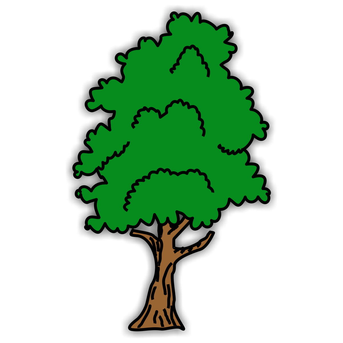 Tree Car Crash Clipart