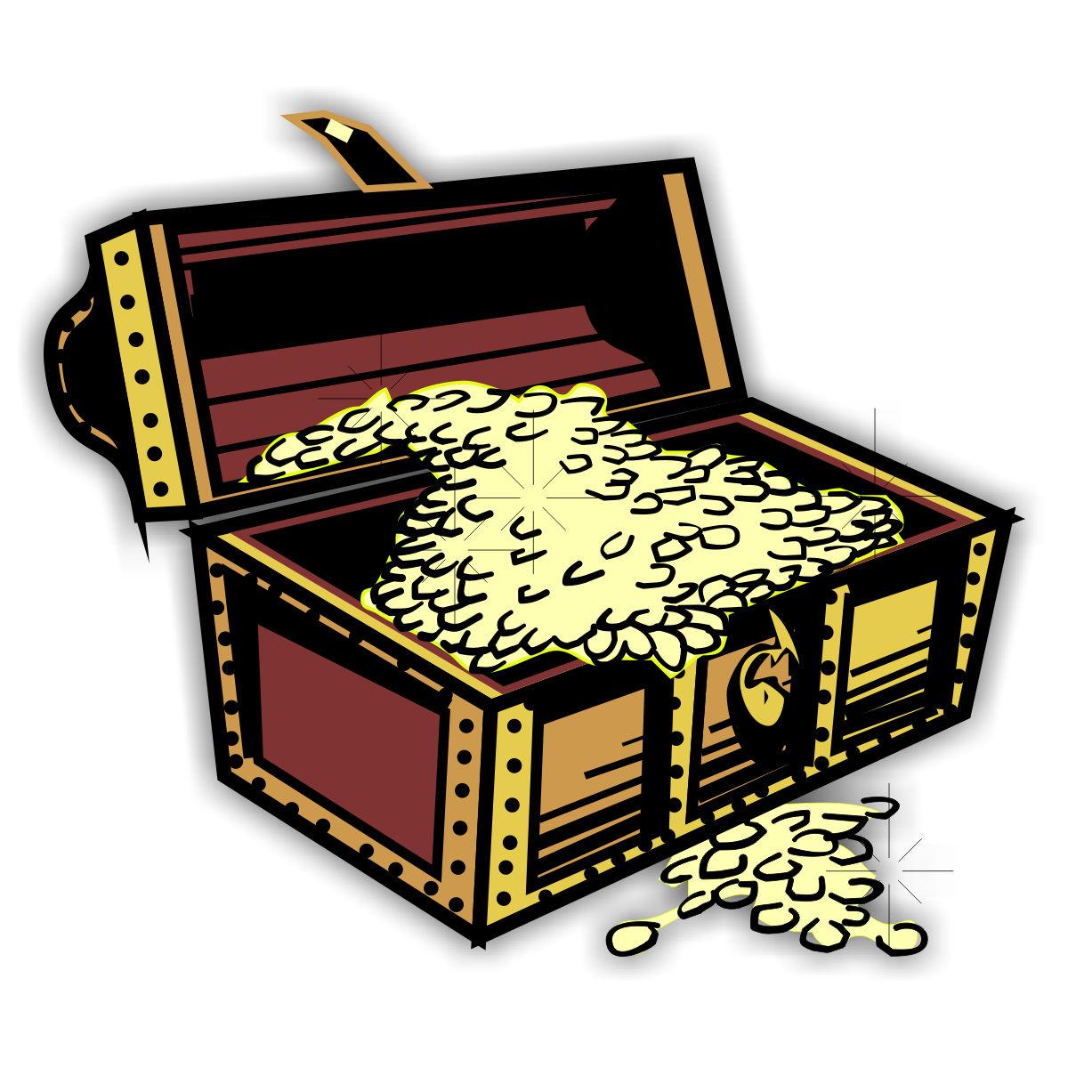 Treasure Chest >> Kostenlose Fensterbilder (Window Color Malvorlagen) zum Download